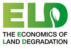 Economics of land degradation logo. ELD with a leaf in the D with the words The Economics of Land Degradation