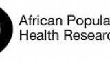 APHRC Logo featuring an outline of Africa in a circle with the words APHRC over the top and African Population and Health Research Center to the right.