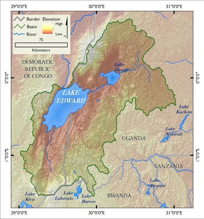 Lake Edward Africa Map Lake Edward | AGLI